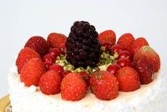Fraises et mûres de gâteau Photos libres de droits