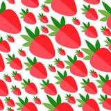 Fraises plates rouges sur le fond blanc Photos stock