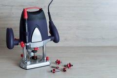 Fraiseuse électrique pour l'usage à la maison de bricoleur Photo libre de droits