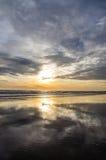 Fraisthorpe beach at sunrise 3. Fraisthorpe beach at sunrise , low tide Royalty Free Stock Photo