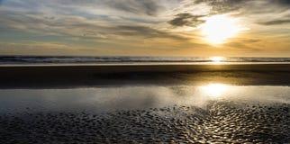 Fraisthorpe plaża przy wschodem słońca Obraz Royalty Free