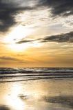 Fraisthorpe plaża przy wschodem słońca Fotografia Royalty Free