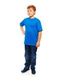 Pełny wzrosta portret gruba chłopiec Zdjęcia Royalty Free