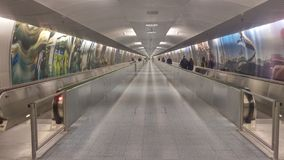 Frakfurt Airport - Underground passage Royalty Free Stock Photography