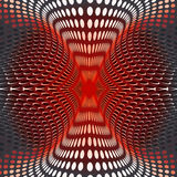 Fraktal red abstract circles Royalty Free Stock Images