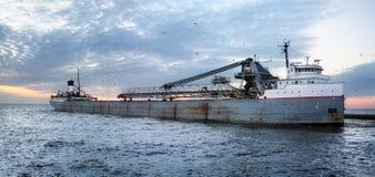 fraktbåt Great Lakes Arkivbild