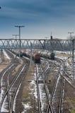 Fraktdrev på station Arkivbild