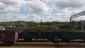 Fraktjärnvägsstation arkivfilmer