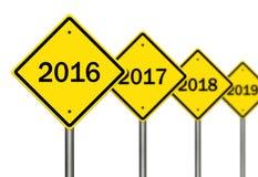 2016 framåt stock illustrationer
