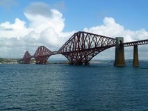 Framåt järnvägsbron, Firth av framåt, Skottland Royaltyfri Fotografi