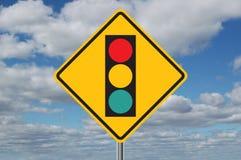 framåt ljus teckentrafik för oklarheter Fotografering för Bildbyråer