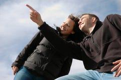 framåt se för aktiva par Fotografering för Bildbyråer