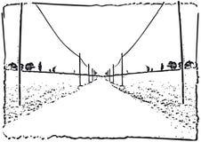 framåt vägvektor Arkivfoton