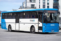 FRAM bus. FRAM plans, orders and coordinates public transport in More og Romsdal county, Norway Royalty Free Stock Photography