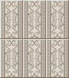 Fram för triangel för kors för spiral för kurva för modell för keramisk tegelplatta infödd royaltyfri illustrationer