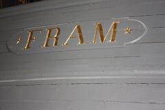 Fram. Famous Fram ship norway oslo Fram Museum stock photo