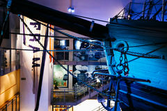 Fram Museum. The Polar Ship Fram at the Fram Museum. The ship was used by the Norwegian explorers in expeditions of the Arctic and Antarctic regions Stock Photography