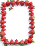 Fram from strawberry on white background. Copy space. Top view, high resolution product royalty free stock photo