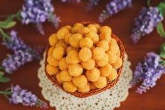 Framboesa amarela com lavander Imagem de Stock