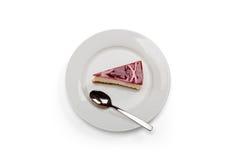 Framboesa & bolo de queijo branco do chocolate Imagem de Stock