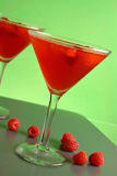 Framboesa Martini Imagens de Stock