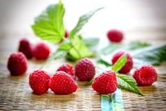 Framboise organique de Heralthy - aliment biologique frais, nourriture végétarienne photos libres de droits