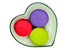framboise, thé vert, et macarons aromatisés bleuberry Image stock