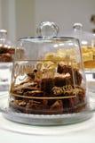 Framboos brownies, koekjes Stock Afbeelding
