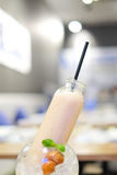 Framboos smoothie Stock Afbeelding