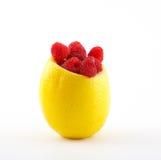Frambuesa en limón Fotos de archivo