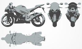 Framdel-, överkant-, baksida- och sidoavbrytarprojektion Arkivfoton