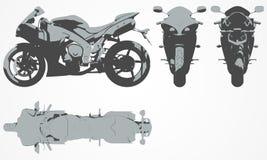 Framdel-, överkant-, baksida- och sidoavbrytarprojektion Arkivfoto