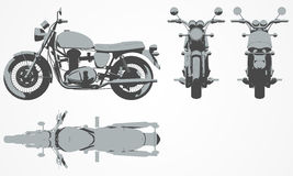 Framdel-, överkant-, baksida- och sidoavbrytarprojektion Arkivbild