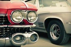 Framdel av den gamla bilen som är retro Royaltyfri Fotografi