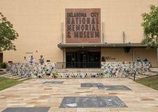 Framdel av den nationella minnesmärken & museet för oklahoma city Arkivbild