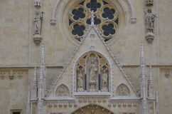 Framdel av den Zagreb domkyrkan Royaltyfri Foto