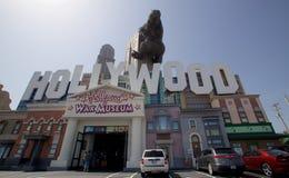 Framdel av det Hollywood vaxmuseet i Branson, Missouri Arkivfoton