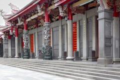 Framdel av en kinesisk tempel Royaltyfri Foto