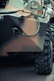 Framdel av en militärfordon Royaltyfria Bilder