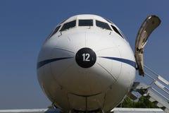 Framdel av ett borgerligt flygplan royaltyfri foto
