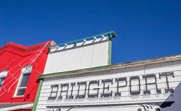 Framdel av ett lager i Bridgeport, Kalifornien Arkivbild