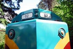 Framdel av lokomotivet Royaltyfri Foto