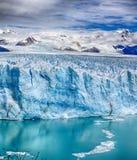 Framdel av Perito Moreno Glacier på nationalpark N för Los Glaciares P arenaceous Royaltyfri Bild