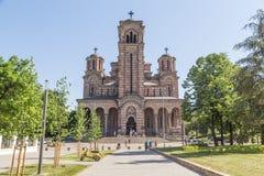 Framdel av Sts Mark kyrka i Belgrade royaltyfria bilder