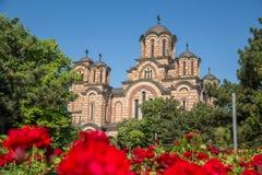 Framdel av Sts Mark kyrka i Belgrade royaltyfria foton