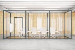 Framdel för ask för konferensrum inre glass Royaltyfri Bild