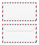 Framdel och back av kuvertet Royaltyfri Fotografi