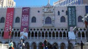 Framdelen av det Venetian hotellet Royaltyfria Foton