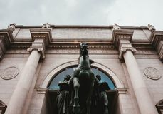 Framdelen av naturhistoriamuseet i NYC royaltyfria foton