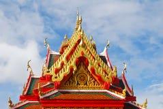 Framdelen av takThailand tempel Arkivbilder